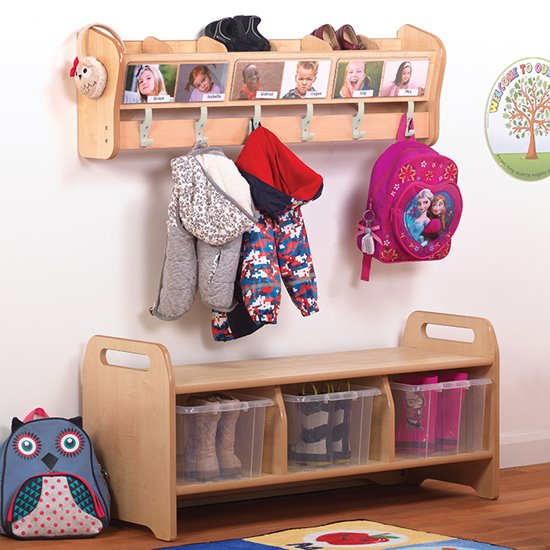 Wall Mounted Cubby Cloakroom Set
