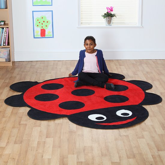 Ladybird Shaped Carpet