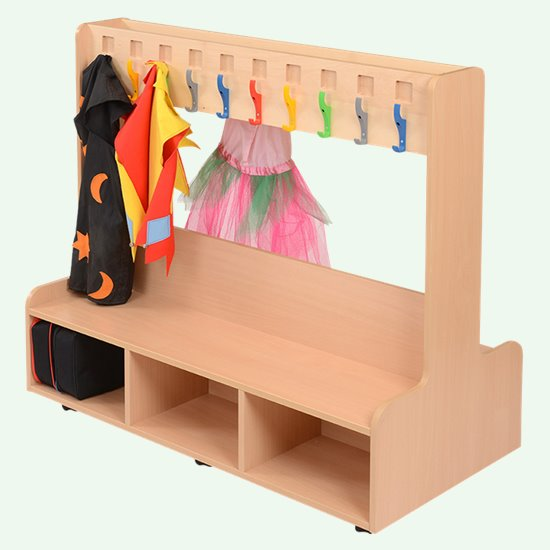 Dress-up or cloakroom unit