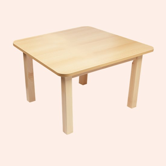 Wood Effect Square Table