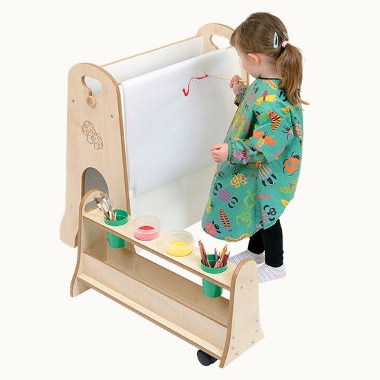 Mini Easel with Storage Trolley