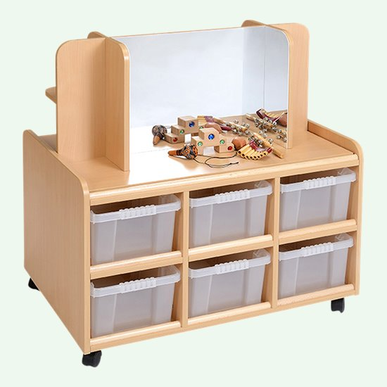 Double Sided Unit with Shelf