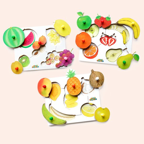Fruit Peg Puzzles