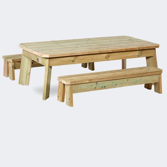 Outdoor Table and Bench Sets - Rectangular