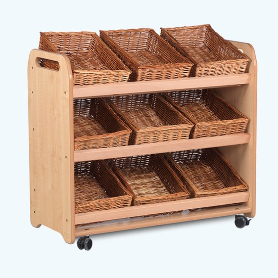 Tilted Tote Storage Units
