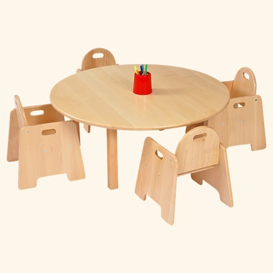 Infant Chair Saver Round Solid Beech Top