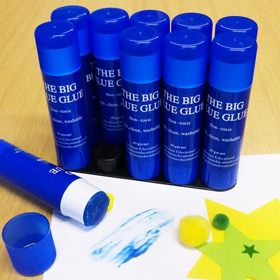 Blue Glue Sticks