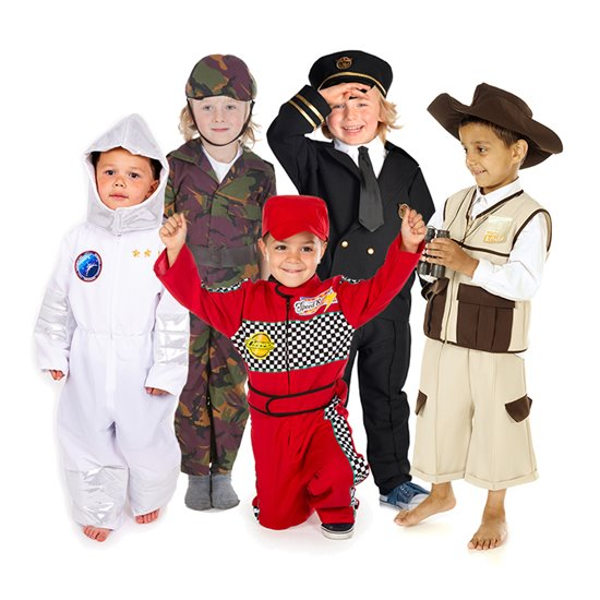 Action Jobs Costumes - set of 5