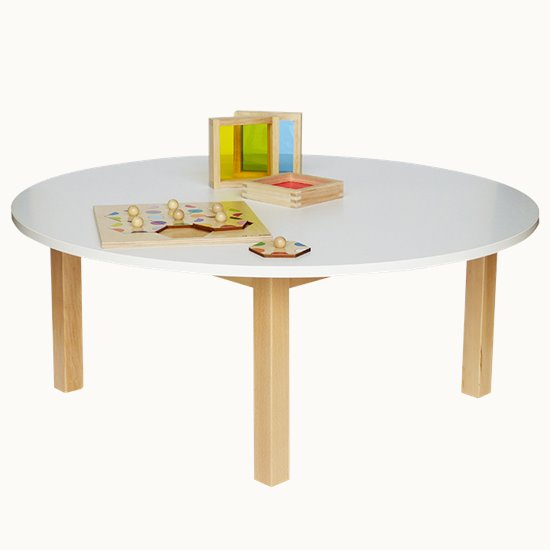 Wooden Table Round Laminate top
