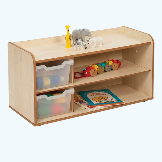 Baby and Toddler Storage - 2 Tray Shelf