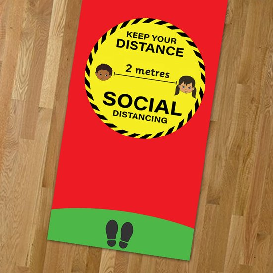 Safe Distance 2 Metre Play Mat