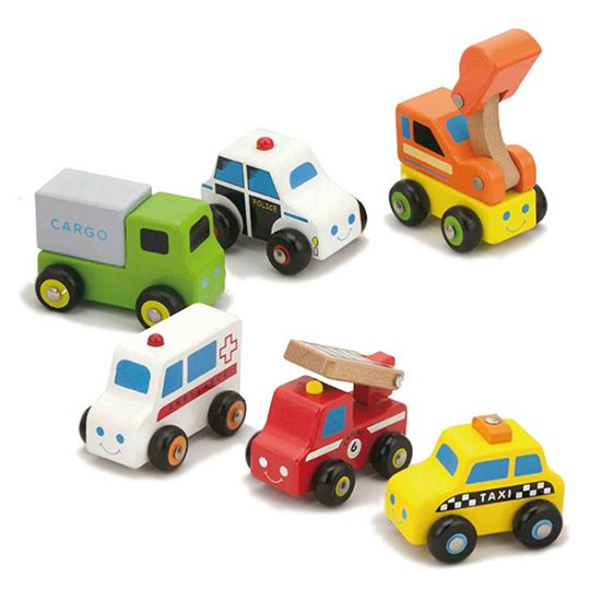 Wooden Vehicles - set of 6