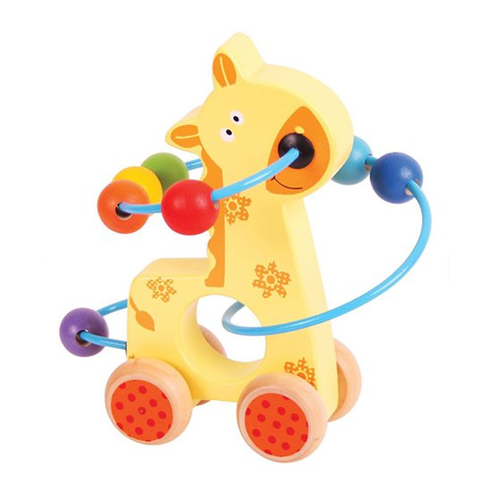 Push Along Bead Frame Giraffe