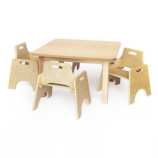 Wobbler Saver Set Square Wood Effect Top