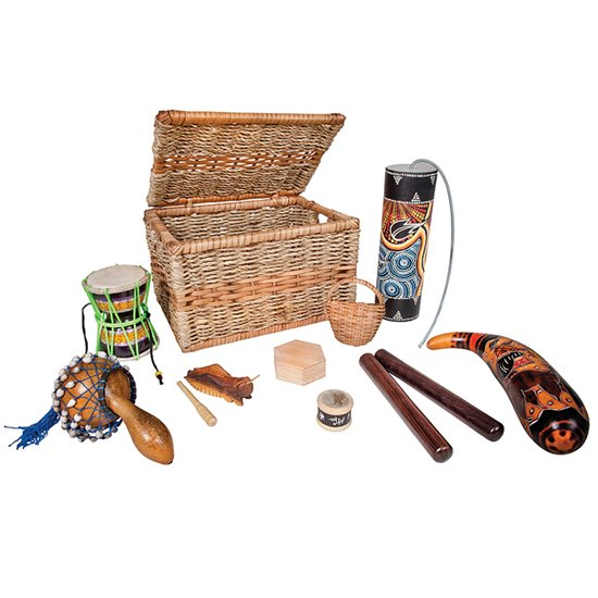 Multicultural Music Basket - small