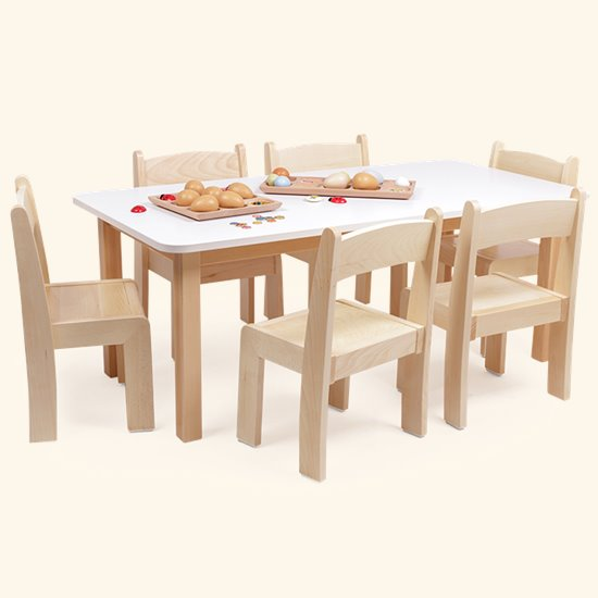 Chair Saver Set Rectangular Laminate Top