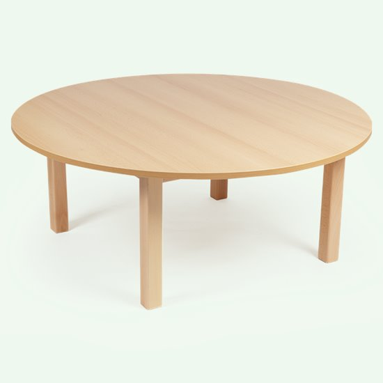 Wood Effect Round Table