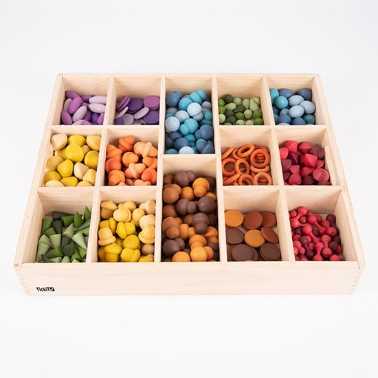 Wooden Tinker Tray - 14 compartments