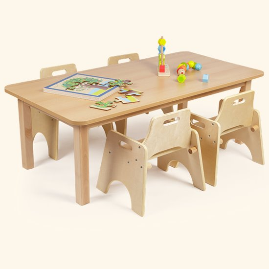 Wobbler Saver Set Rectangular Wood Effect Top