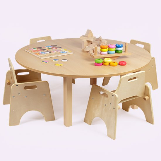 Wobbler Saver Set Round Wood Effect Top