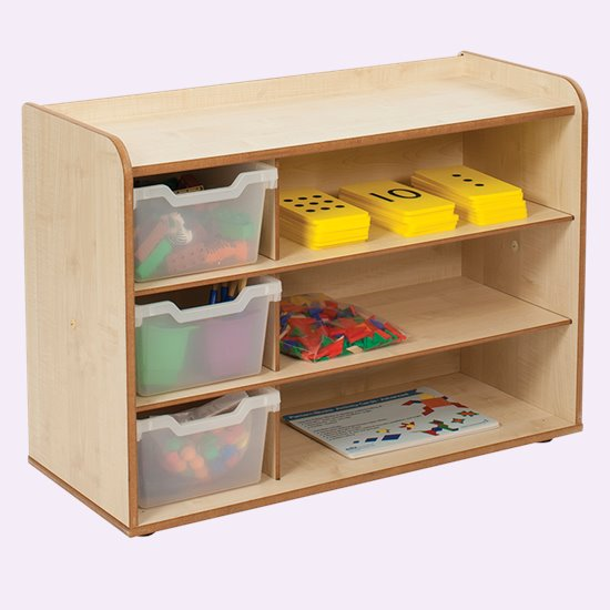 Baby and Toddler Storage - 3 Tray Shelves