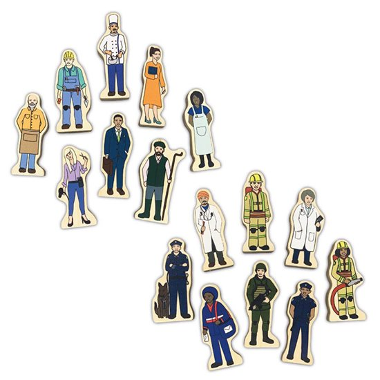 Wooden People - set of 16 Professions