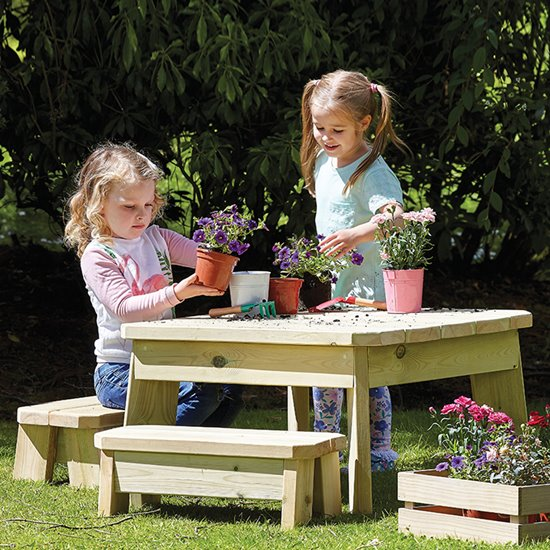 Outdoor Table and Bench Sets - Square