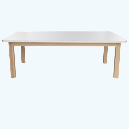 Wooden Table Rectangular Laminate Top