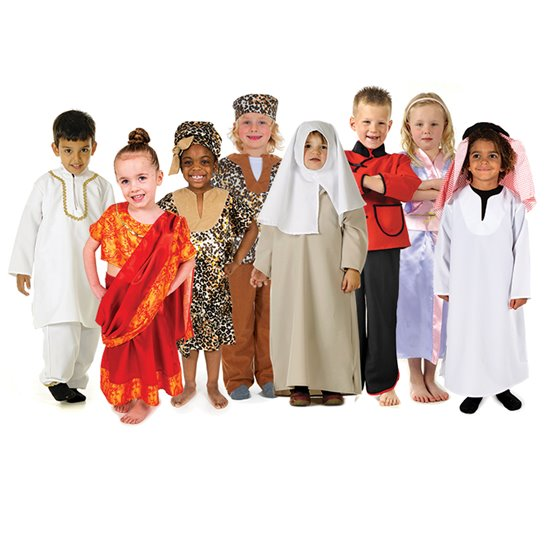 Multicultural Costumes - set of 8