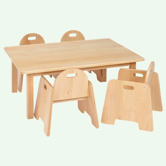 Infant Chair Saver Rectangular Solid Beech Top