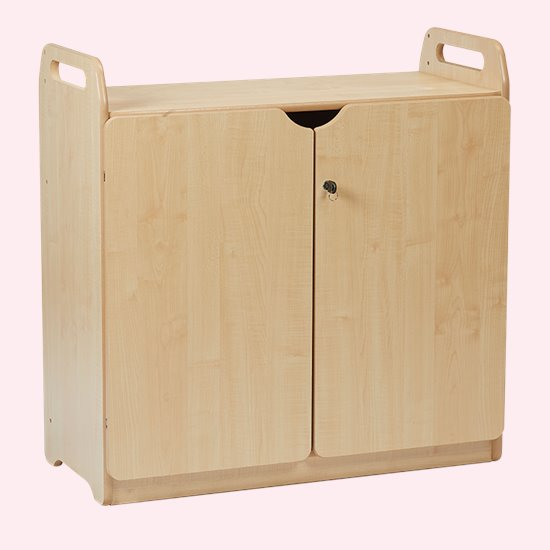 Lockable Cupboard - display & mirror back