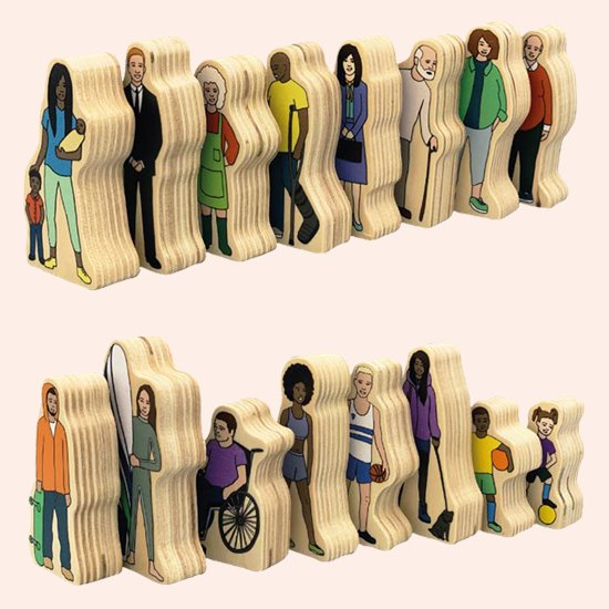 Wooden People - set of 16 Community