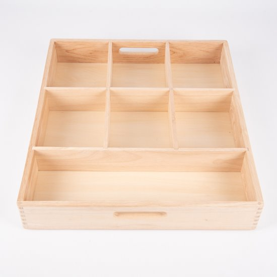 Wooden Tinker Tray - 7 compartments