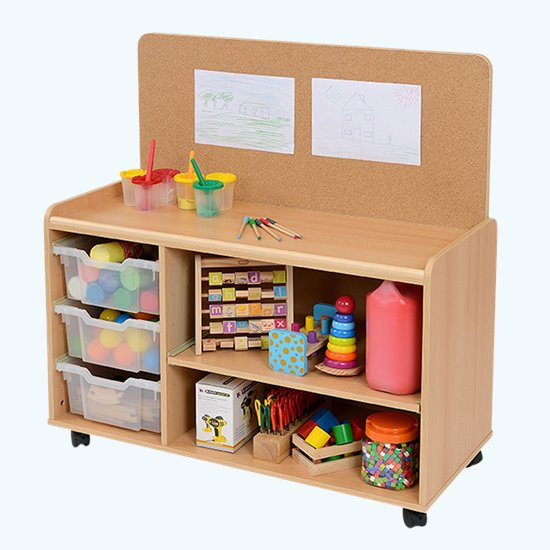 6 Tray Corkboard Unit
