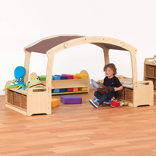 Den with Storage Benches