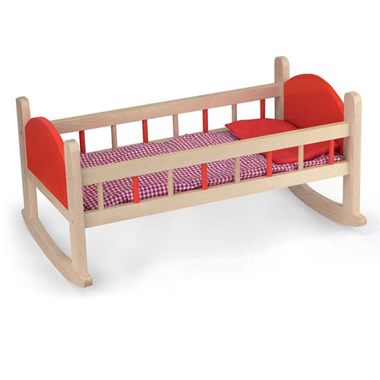 Wooden Dolls Cradle